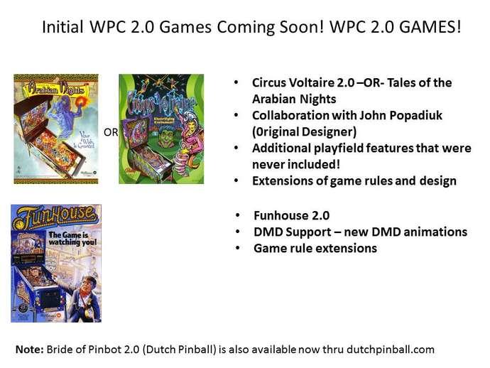 NEWS: Planetary Pinball and WPC 2 0 | CREDIT DOT