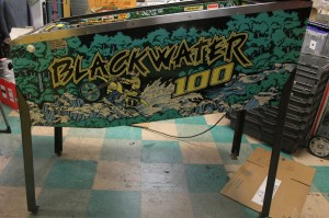 "Blackwater 100, the first appearance of the thin ""Bally Rail"""